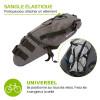 sacoche de selle vélo grande capacité avec sangle élastique