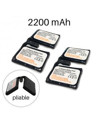 Lot de 2 batteries pour sous-gants chauffants tactiles