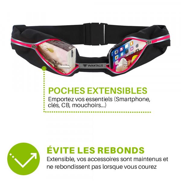ceinture de running - xtens 2 poches