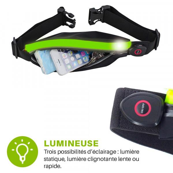 ceinture de running lumineuse - xtens light 3