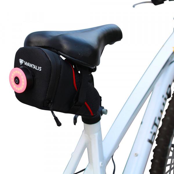 sacoche de selle vélo avec attache pour lumière