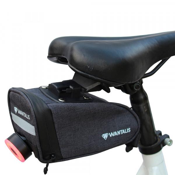 sacoche de selle vélo avec attache lumière