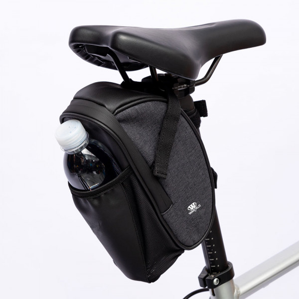 sacoche de selle vélo avec emplacement bouteille
