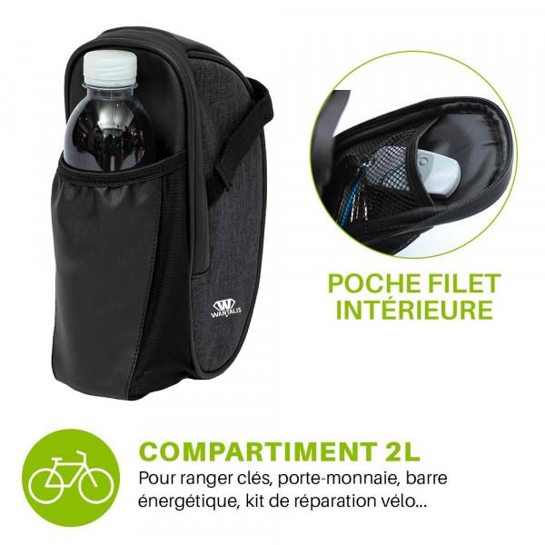 sacoche de selle vtt avec poche intérieure