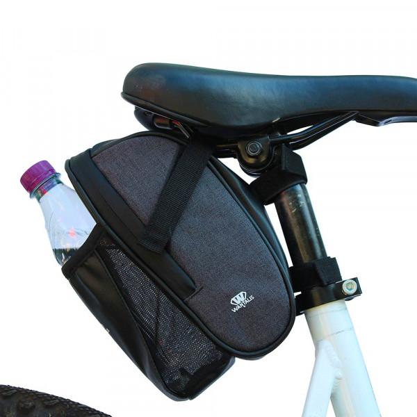 sacoche de selle vtt avec emplacement bouteille
