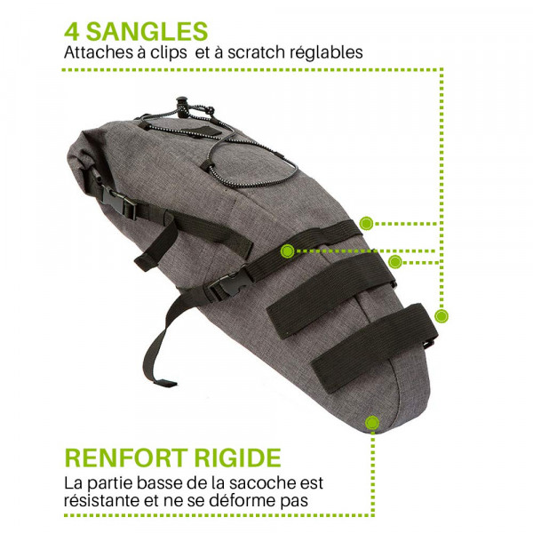 sacoche de selle attache à sangle