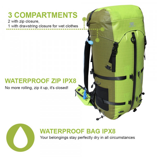 Sac étanche IPX8 - WaveBag ULTIM - 50 L - Wantalis